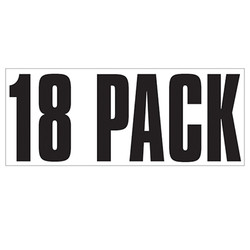 Large Banner Label - 18 Pack