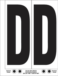 "9"" Letter D - 2/sht"