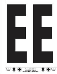 """9"""" Letter E - 2/sht"""