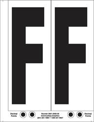 """9"""" Letter F - 2/sht"""