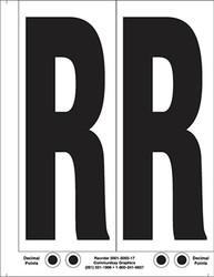 "9"" Letter R - 2/sht"