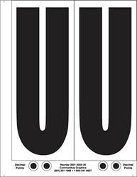 """9"""" Letter U - 2/sht"""