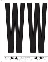 """9"""" Letter W - 2/sht"""