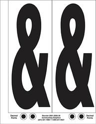 """9"""" Letter & (Ampersand) 2/sht"""
