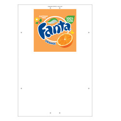 "Exterior Pole Sign - 31"" X 47"" Fanta"