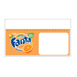 "Shelf talker - 10"" x 6.25"" Fanta"