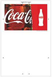 "Exterior Pole Sign - 31"" X 47"" Coke"