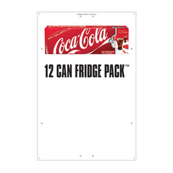 "Exterior Pole Sign - 32"" x 48"" Coke Fridge Pack"