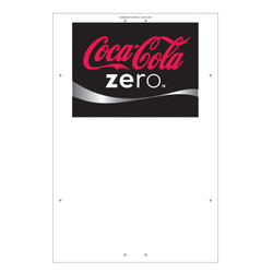 "Exterior Pole Sign - 31"" X 47"" Coke Zero"