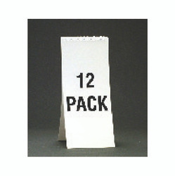 "11 1/8"" Spiral Soda Descriptive Pad - White"