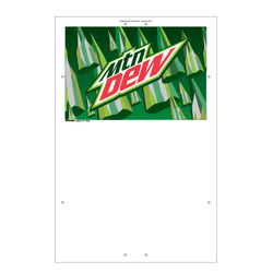 "Exterior Pole Sign - 32"" x 48"" Mountain Dew"