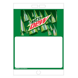 "Paper Pole Sign - 16"" x 23"" Mountain Dew"