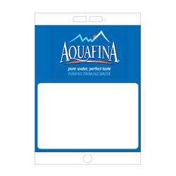 "Paper Pole Sign - 16"" x 23"" Aquafina"