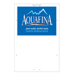 "Exterior Pole Sign - 32"" x 48"" Aquafina"