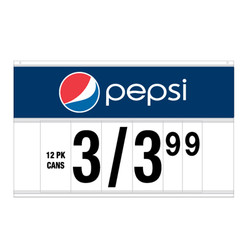"34"" Spiral Display Sign - Pepsi"
