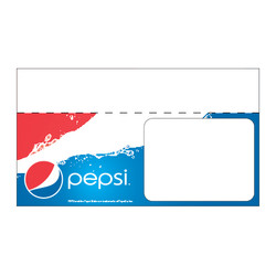 "Shelf talker - 10"" x 6.25"" Pepsi"