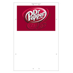 "Exterior Pole Sign - 31"" X 47"" Dr Pepper"