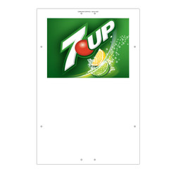 "Exterior Pole Sign - 31"" X 47"" 7UP"