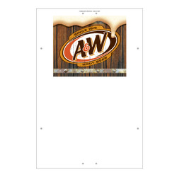 "Exterior Pole Sign - 31"" X 47"" A&W Rootbeer"