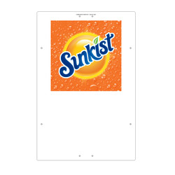 "Exterior Pole Sign - 31"" X 47"" Sunkist"