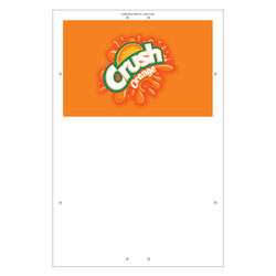 "Exterior Pole Sign - 31"" X 47"" Orange Crush"
