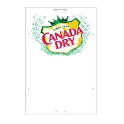 "Exterior Pole Sign - 31"" X 47"" Canada Dry"