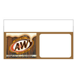 "Shelf talker - 10"" x 6.25"" A&W Rootbeer"