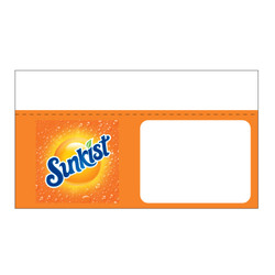 "Shelf talker - 10"" x 6.25"" Sunkist"