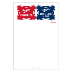 "Exterior Pole Sign - 32"" x 48"" Miller High Life & High Life Light"