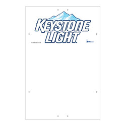"Exterior Pole Sign - 32"" x 48"" Keystone Light"