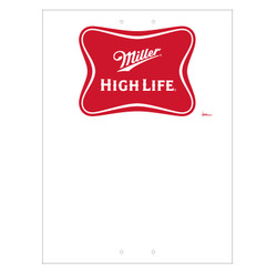 "Mini Pole Sign - 24"" x 32"" Miller High Life"