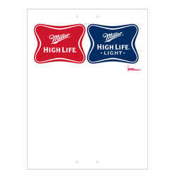 "Mini Pole Sign - 24"" x 32"" Miller High Life & High Life Light"