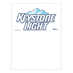 "Mini Pole Sign - 24"" x 32"" Keystone Light"