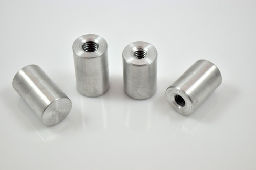 "aluminum blind threaded weld in tank bung 5/16 x 18 and 3/8"" x 16"
