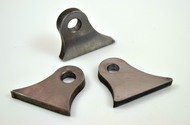 steel weld on arched thick  mounting tab with hole