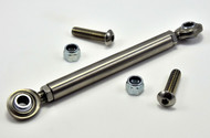 Stainless steel adjustable brake stay linkage with stainless heim joints