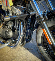 Sportster Highway Peg Crash Bar Frame Slider forward control engine guard bungking