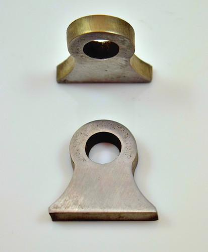 "3/8"" hole hourglass weld on steel tab"