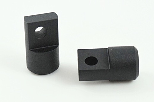 Non pivoting footpeg clevis fo dyna sportster fxr pegs