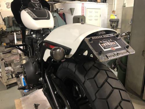 License  plate relocation kit 2018 fat bob Harley davidson