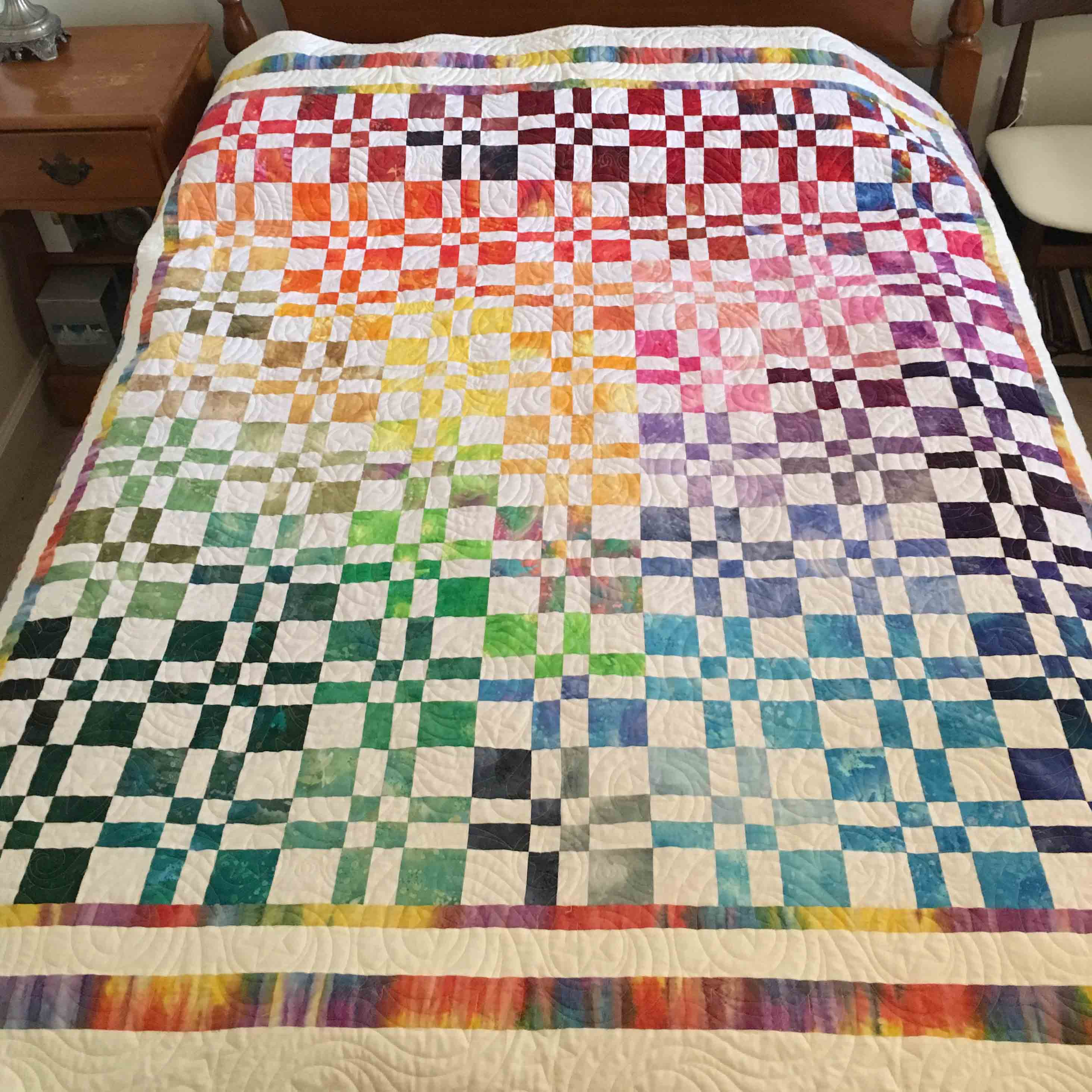 A Quilt From Our Studio Elly S Disappearing Four Patch