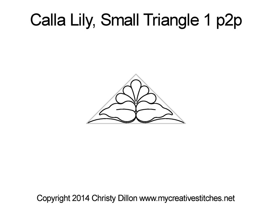 Calla Lily Small Triangle 1 Point To Point My Creative Stitches