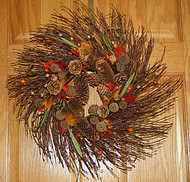 Birch Branch Cone Wreath