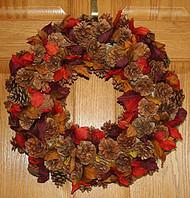 Fall Cone Wreath