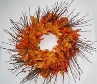 Birch Branch Oak Leaf Wreath