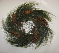 Needle Pine Wreath with Cones