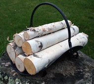 Decorative White Birch Logs Set for Fireplace