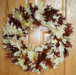 Preserved Honey Oak Leaf Wreath