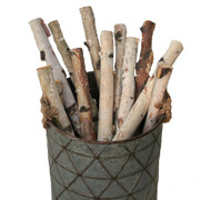 "Birch logs 1"" to 1.5'' x 18'' Long - Set of 12 logs"