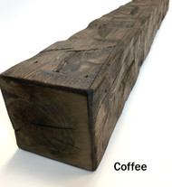 Wilson Wood Crafts Rustic Hand Hewn Barn Beam Mantel